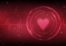 心脏无监视器矢量背景