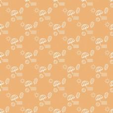 橙色夏季图案设计