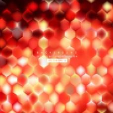 红色橙色六边形图案背景设计