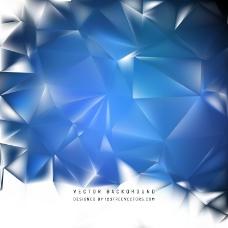 蓝色几何多边形背景