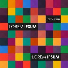 彩色方格子背景设计