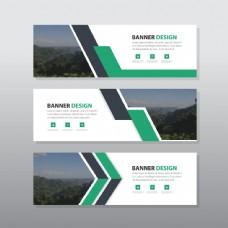 绿色线条森林商务传单图片