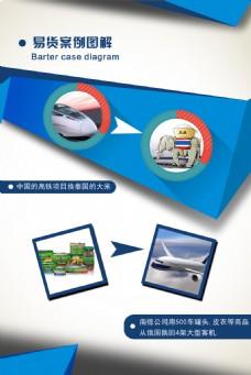 易货案例图解 贸易海报公司企业宣传