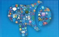 社会媒体的图形海报图