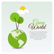 绿色地球底纹