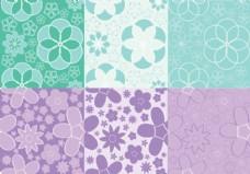 Girly Flowers Pattern矢量