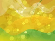 金绿色抽象发光的背景