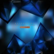 蓝色几何三角形背景模板