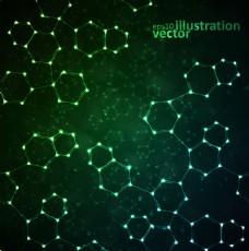 绿色科技背景矢量图