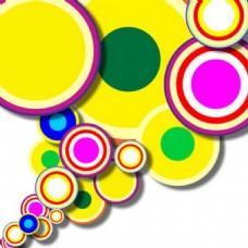摘要彩色圆圈的形状矢量背景
