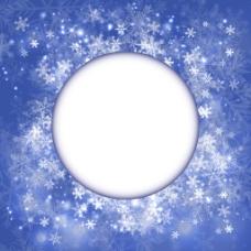 蓝色冬天的背景设计