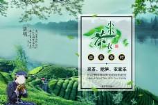 清明节采茶之旅psd文件
