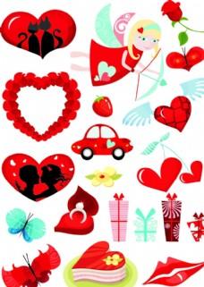 爱心样式矢量图