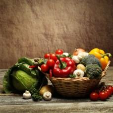 菜篮里的蔬菜图片