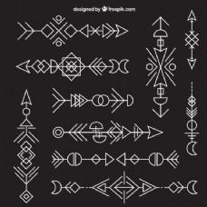 几何族箭头的集合