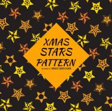 黄色橙色星星图案背景