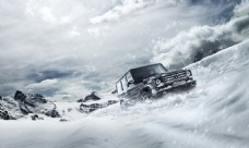 奔驰G级汽车广告雪地篇