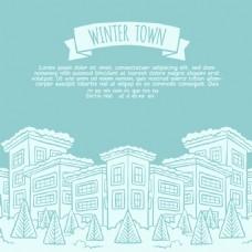 冬季景观建筑素材