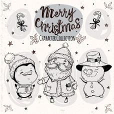 圣诞人物与帽子