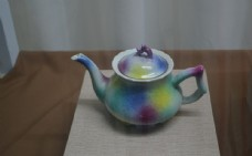 彩虹瓷壶图片