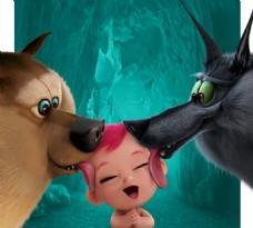 大灰狼与大灰熊舔小孩子
