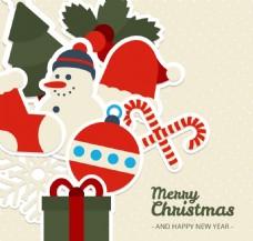 圣诞背景与漂亮的饰品