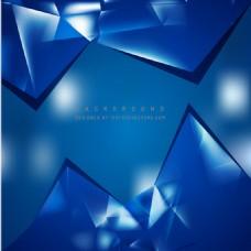 蓝色几何三角背景设计
