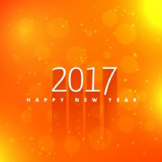新年橙色背景