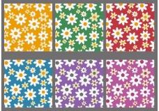 彩色花背景矢量
