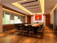 大型的会议室模型