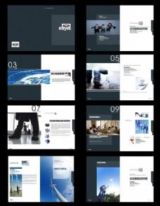 大气企业画册矢量素材