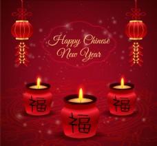 中国新年蜡烛背景