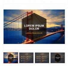咖啡色系旅游品牌宣传ppt模板下载
