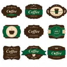 复古咖啡标签图片