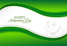 免费矢量插图与巴基斯坦国旗