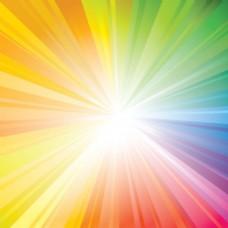 彩色光线条纹阳光背景矢量图