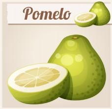 葫芦形的绿色水果图片