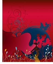 红色背景图片花纹