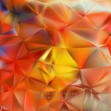 中文摘要红黄色多边形三角背景