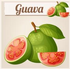 红色心的绿色水果图片