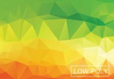 温暖的几何低多边形风格插画矢量