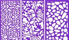 木雕花样矢量花纹素材