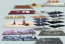 地毯室内效果分层设计素材