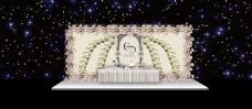 欧式鲜花婚礼大舞台展示区