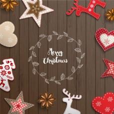 立体圣诞素材背景图片