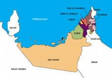 阿联酋地图矢量边界