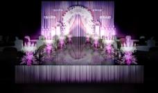 重庆洛卡婚礼紫色舞台