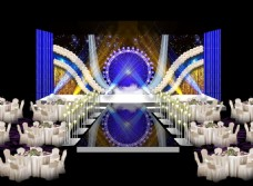 摩天轮主题婚礼主题舞台