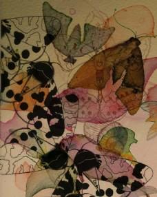 水彩虫鸟画
