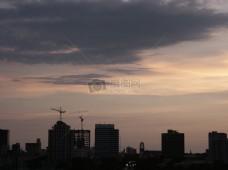 傍晚的城市美景